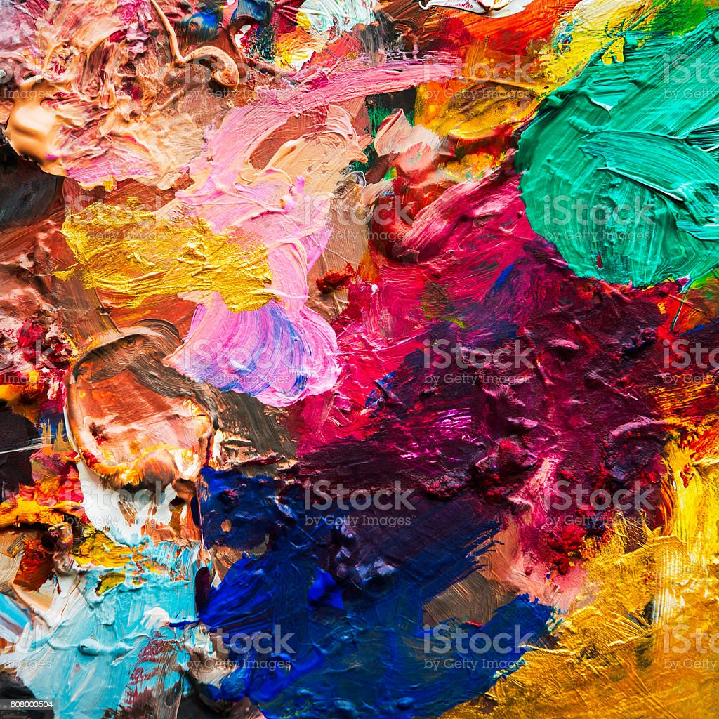 Oil color mix stock photo