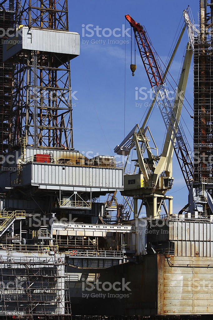 Oil Crane royalty-free stock photo