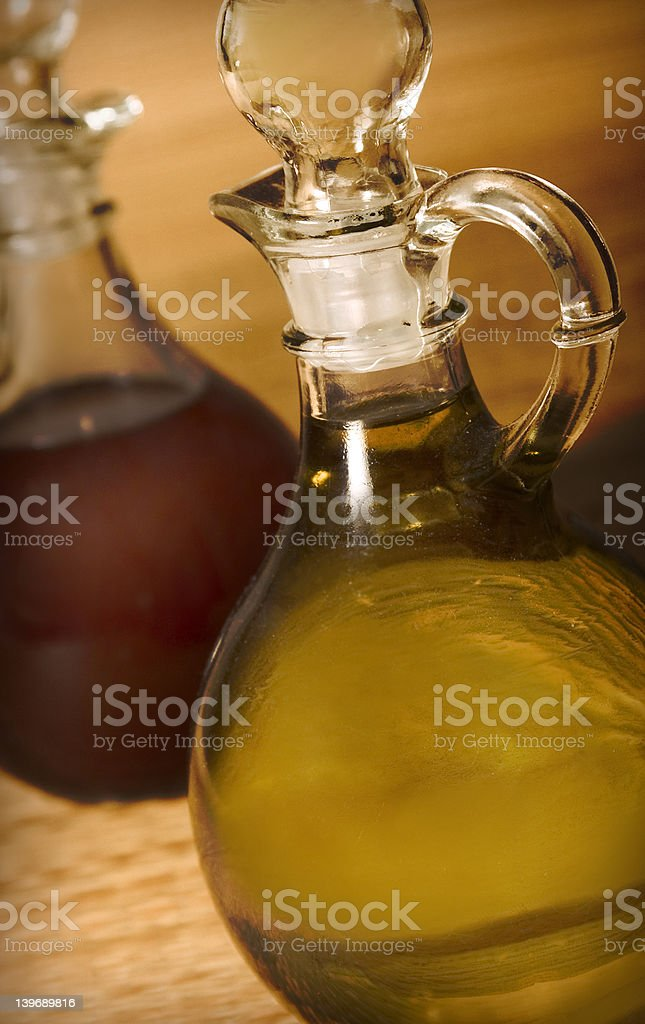 oil cruets royalty-free stock photo