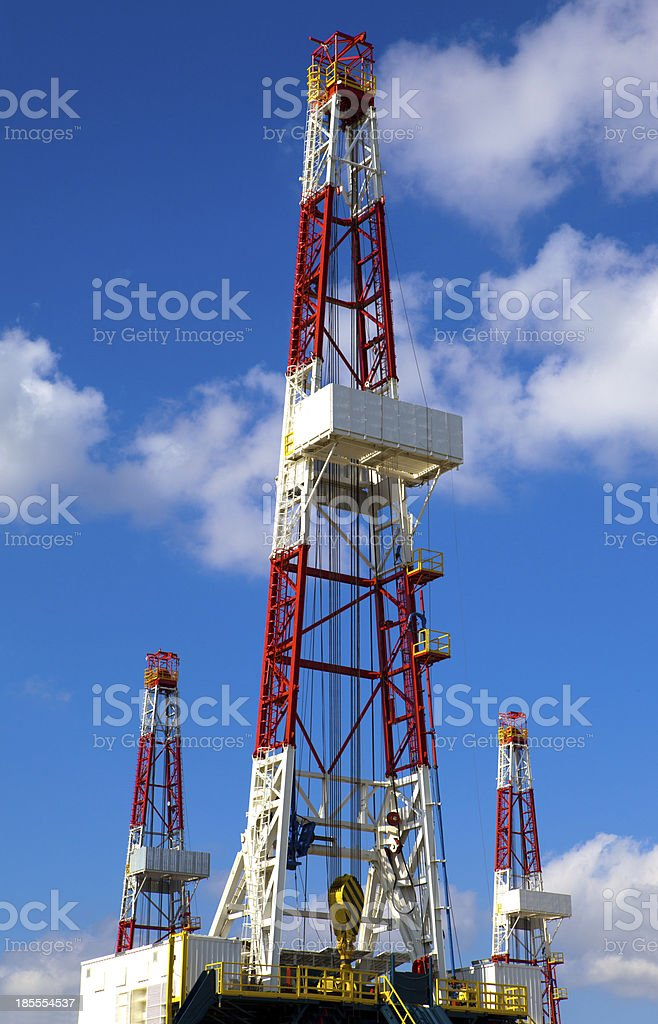 Oil derrick royalty-free stock photo