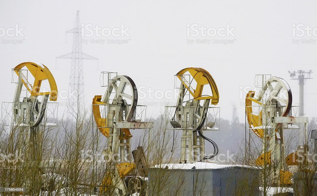 Oil derricks royalty-free stock photo