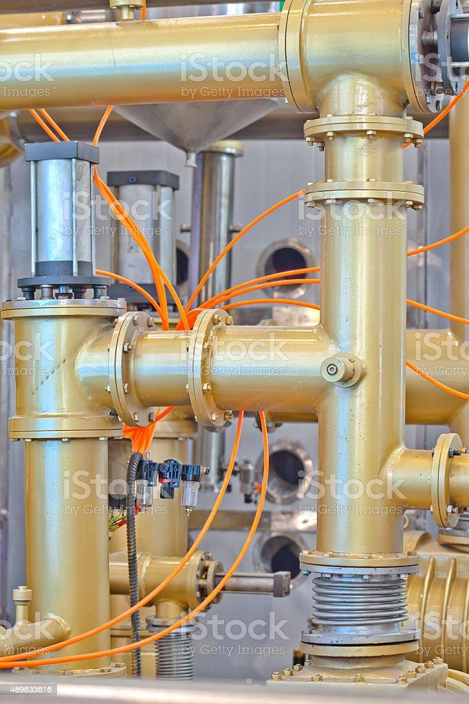 Oil diffusion equipment stock photo