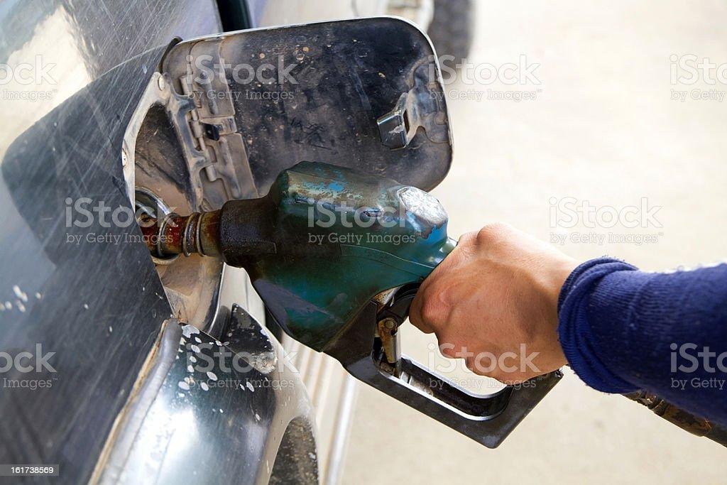 Oil dispenser. royalty-free stock photo