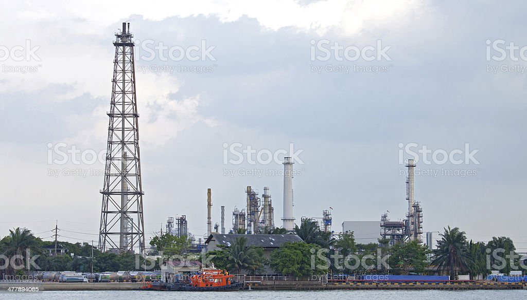Oil distillation Tower royalty-free stock photo