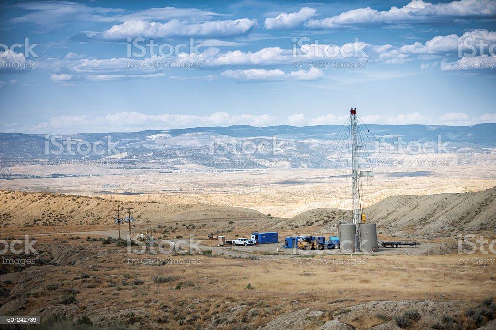 Oil Drilling Fracking Rig stock photo
