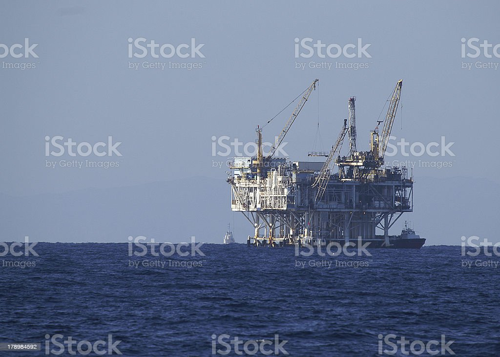 Oil Drilling Platform royalty-free stock photo