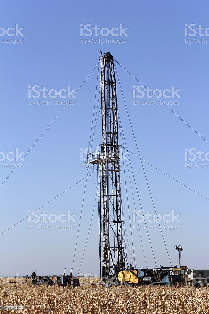 oil drilling rig and equipment royalty-free stock photo