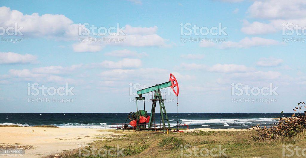 Oil Drilling Rig royalty-free stock photo