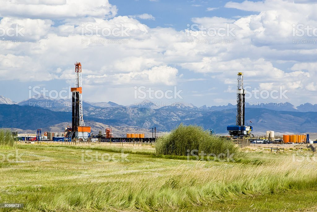 Oil Drilling Rigs stock photo