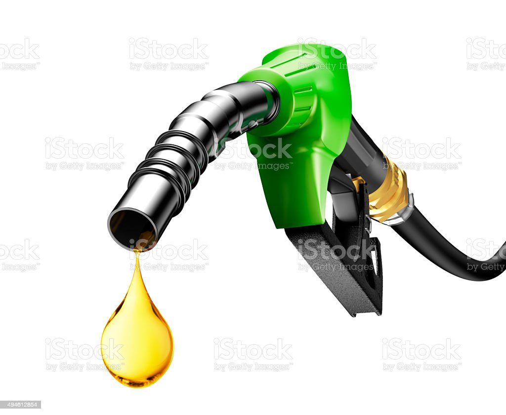 Oil Dripping From a Gasoline Pump stock photo