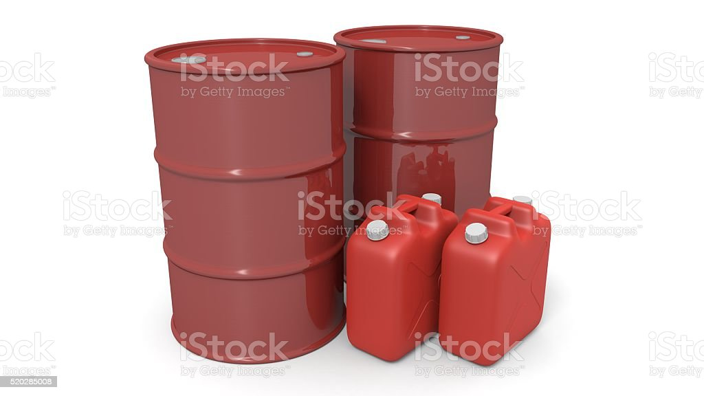 oil drum and fuel container stock photo