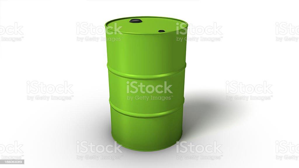 Oil drum on white background stock photo