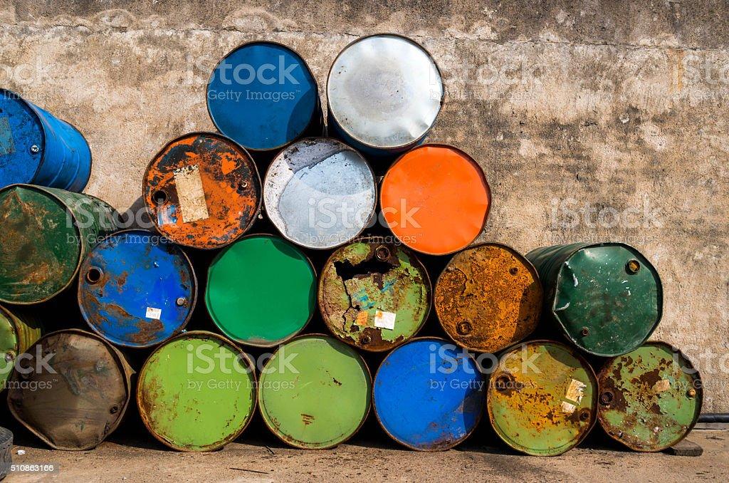Oil drum stock photo
