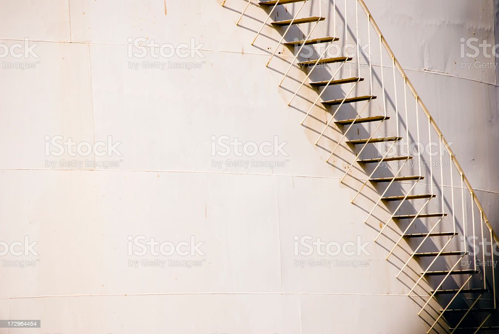 Oil Drum Steps royalty-free stock photo