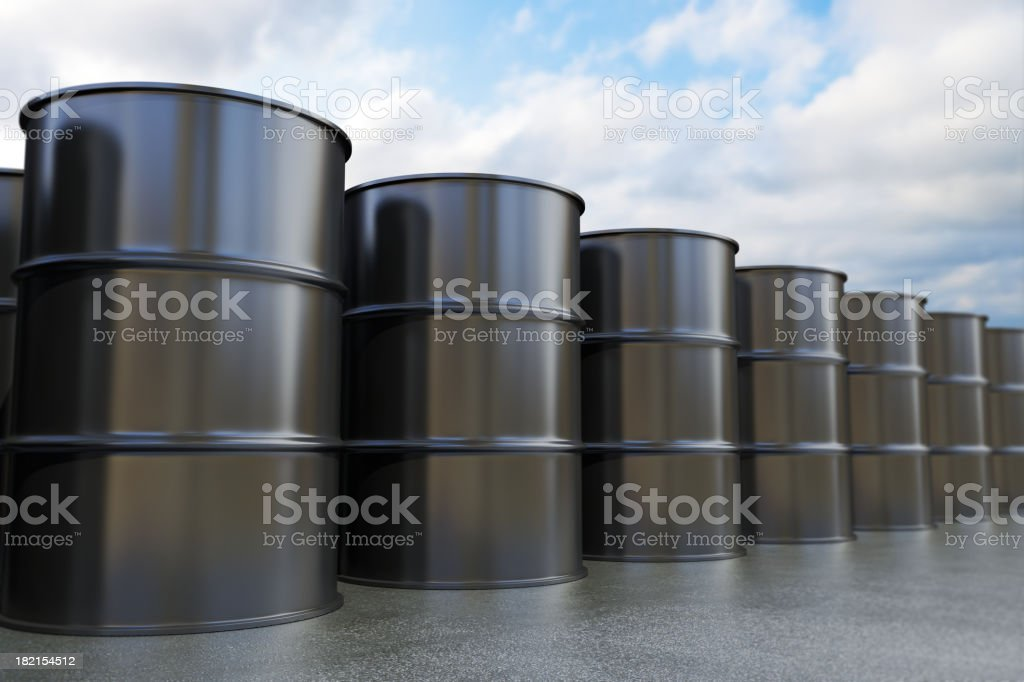 Oil Drums royalty-free stock photo