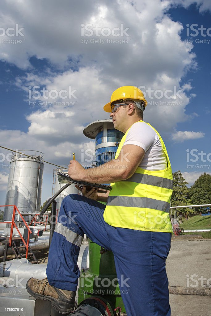 Oil engineer royalty-free stock photo