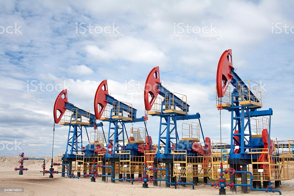 Oil equipment scene stock photo