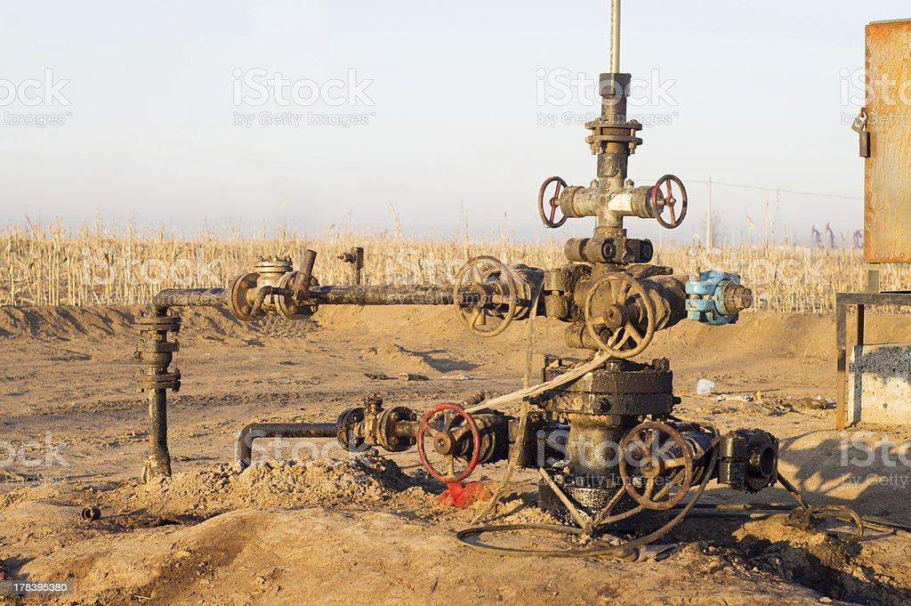 Oil exploration royalty-free stock photo