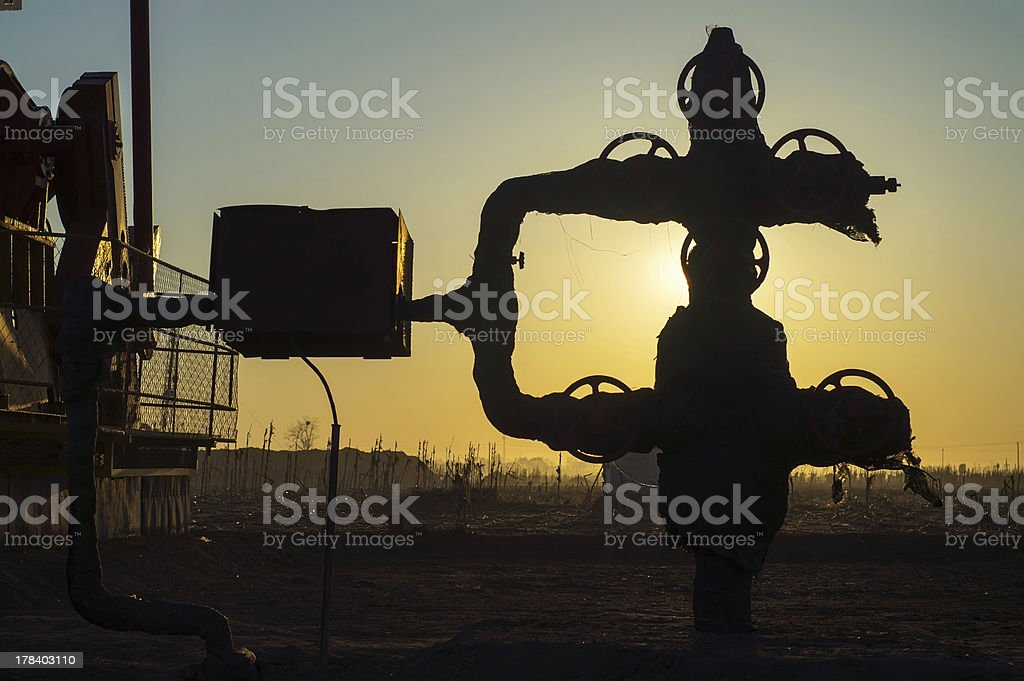 Oil exploration royalty-free stock photo