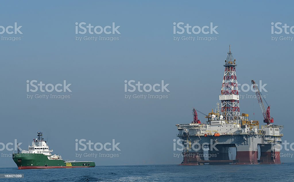 oil exploration plataform stock photo