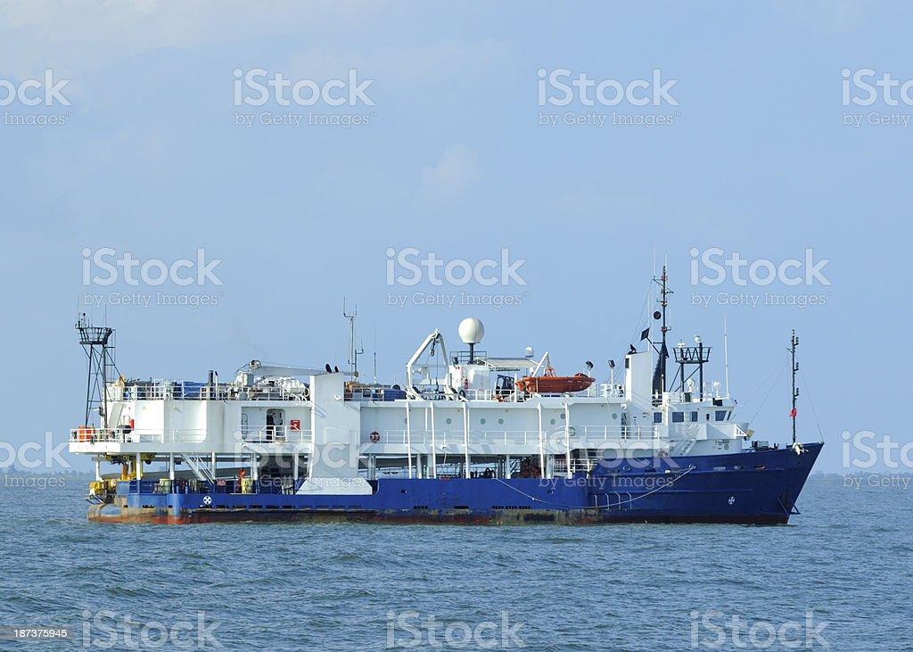 Oil Exploration vessel stock photo