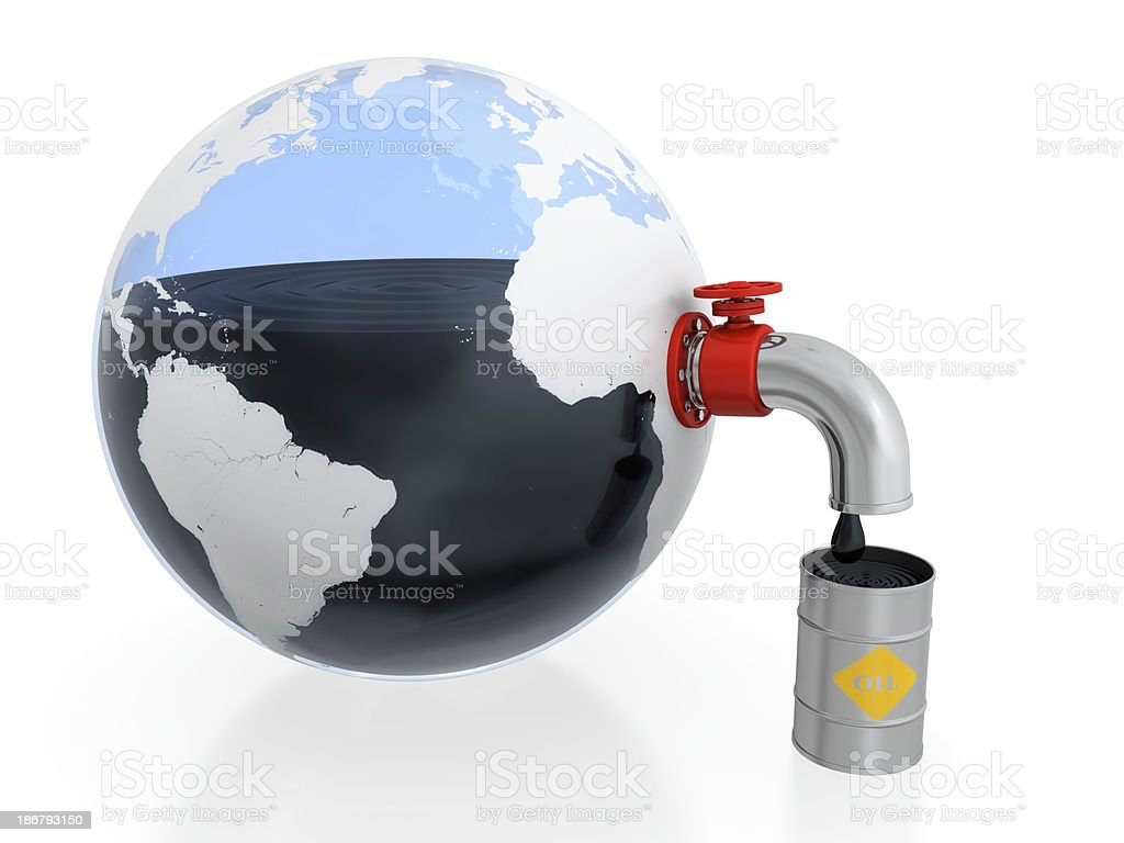 Oil extraction stock photo