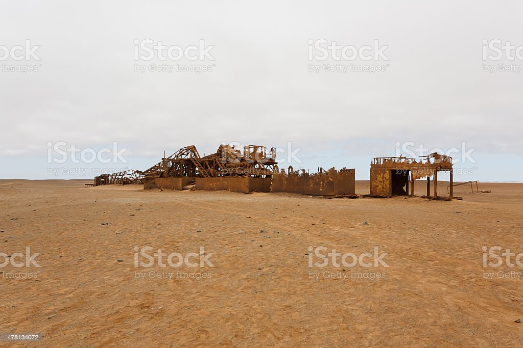 Oil extraction station stock photo