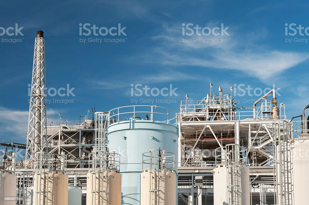 Oil factory stock photo