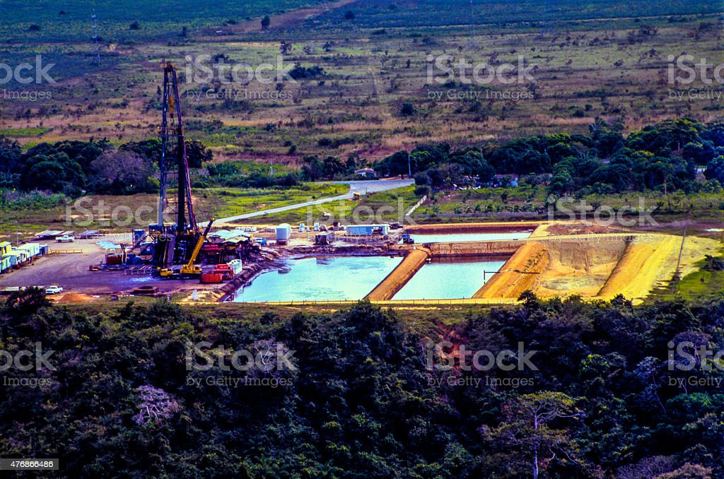 Oil Field In Operation stock photo