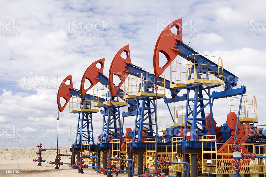 Oil field stock photo