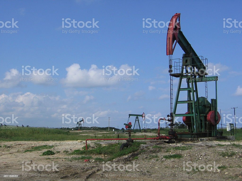 Oil field royalty-free stock photo