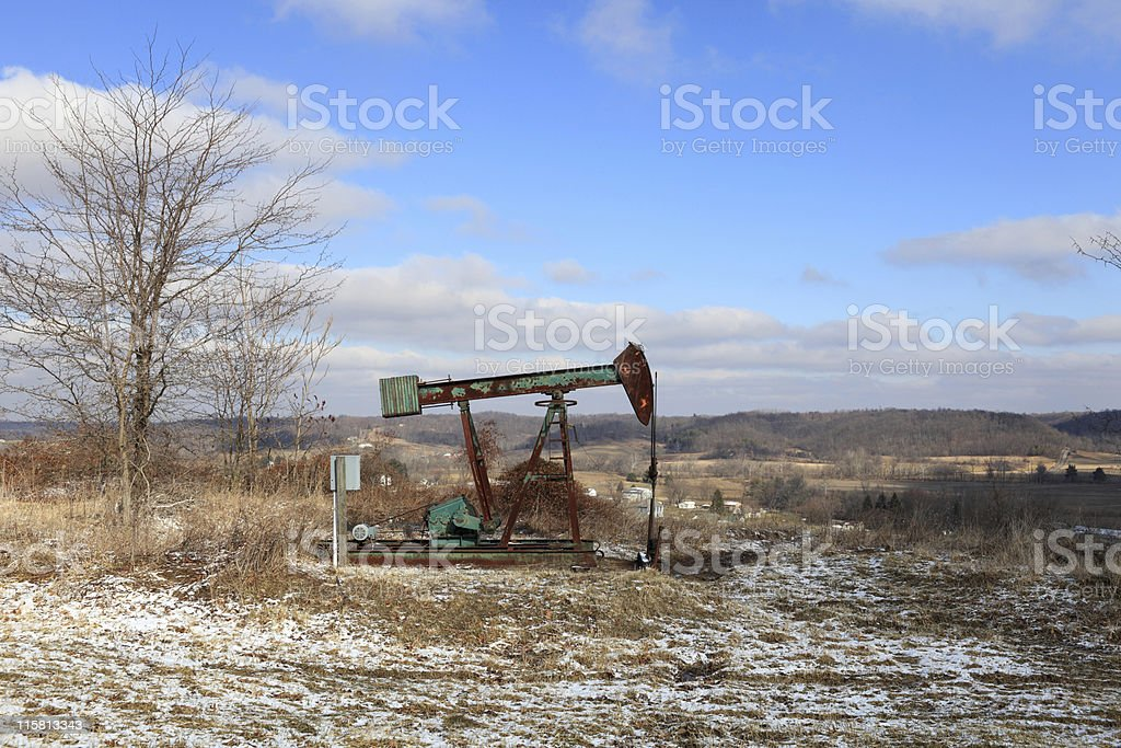 Oil Field pump jack royalty-free stock photo