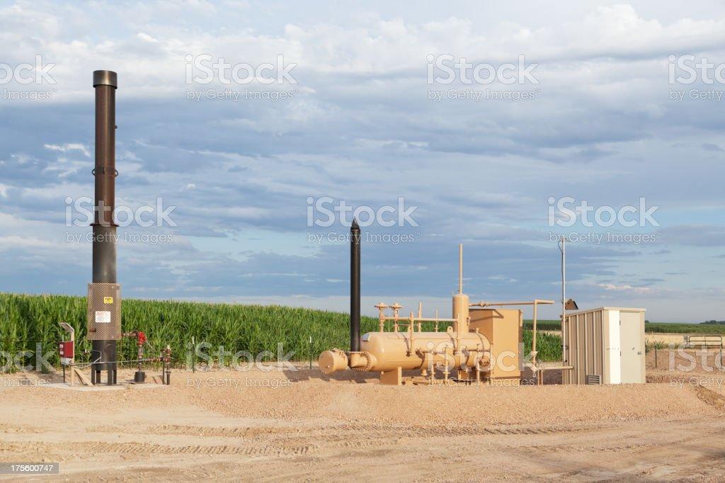 Oil Field Separation Equipment stock photo