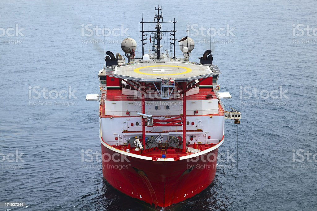 Oil Field Support Vessel stock photo