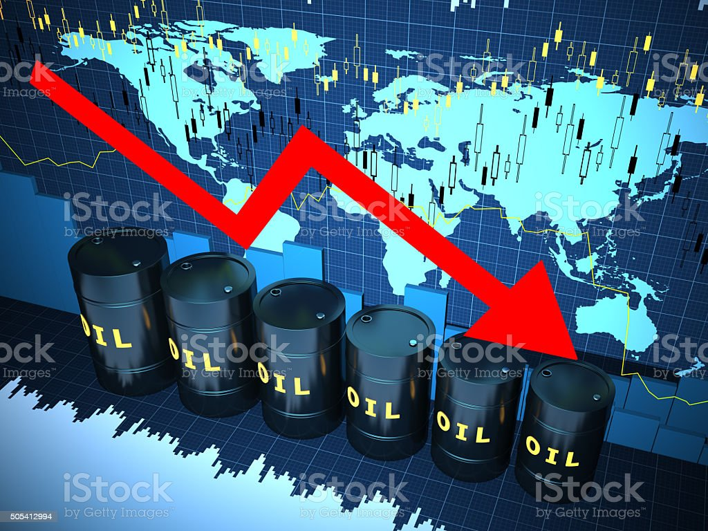 Oil Financial charts abstract business graph stock photo