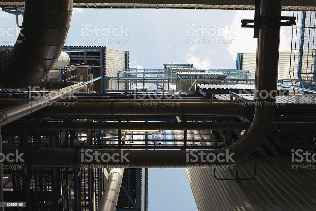 Oil Fired Power Station stock photo