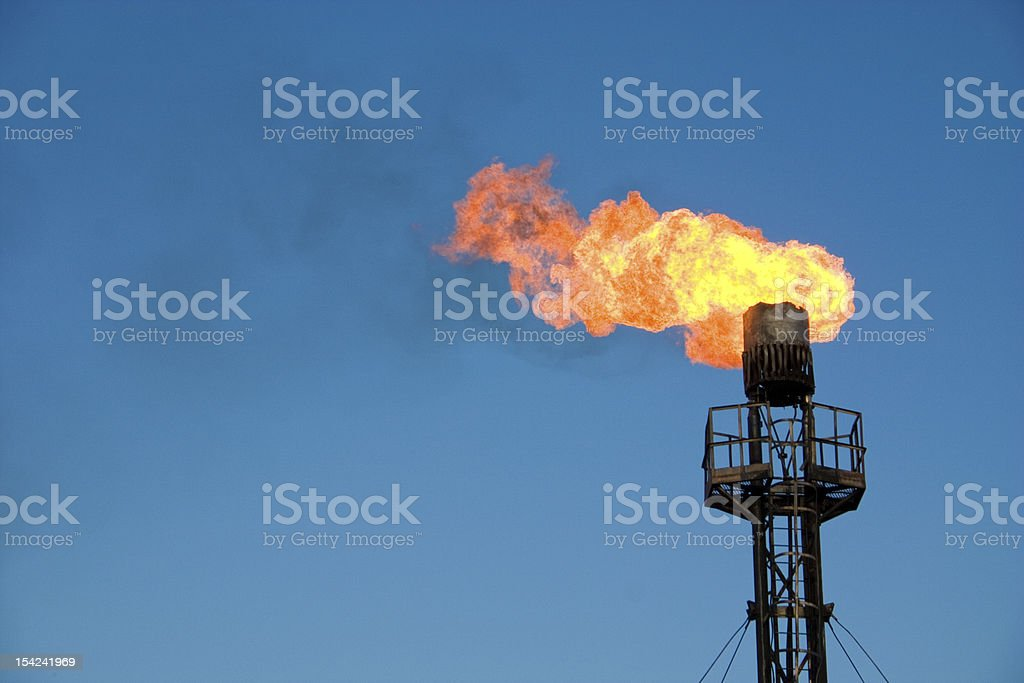 Oil flare royalty-free stock photo