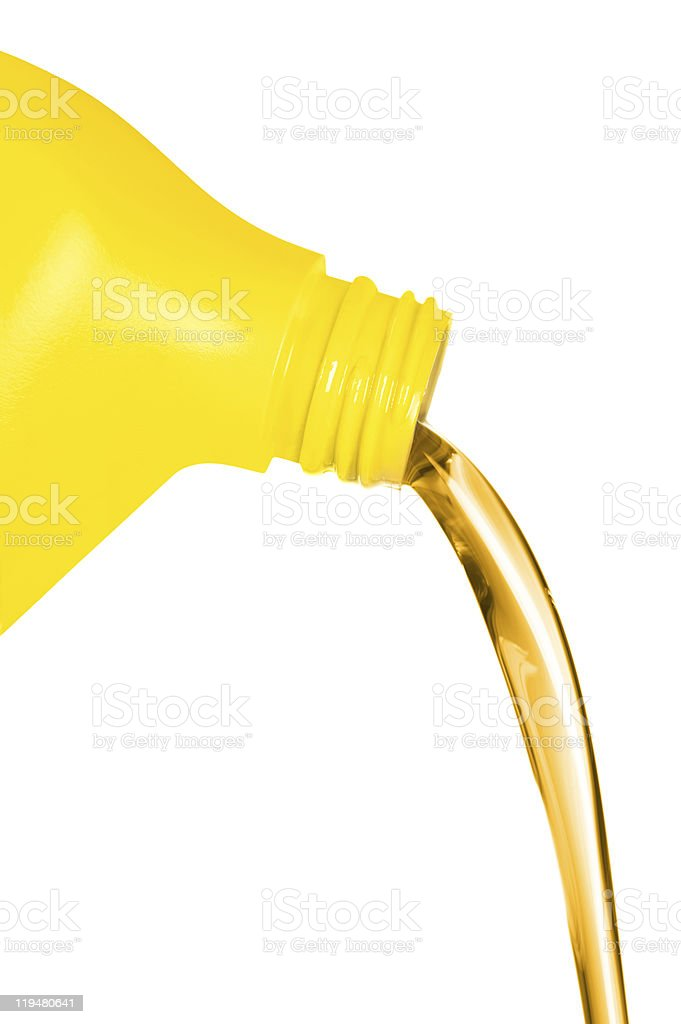 Oil flowing from container royalty-free stock photo