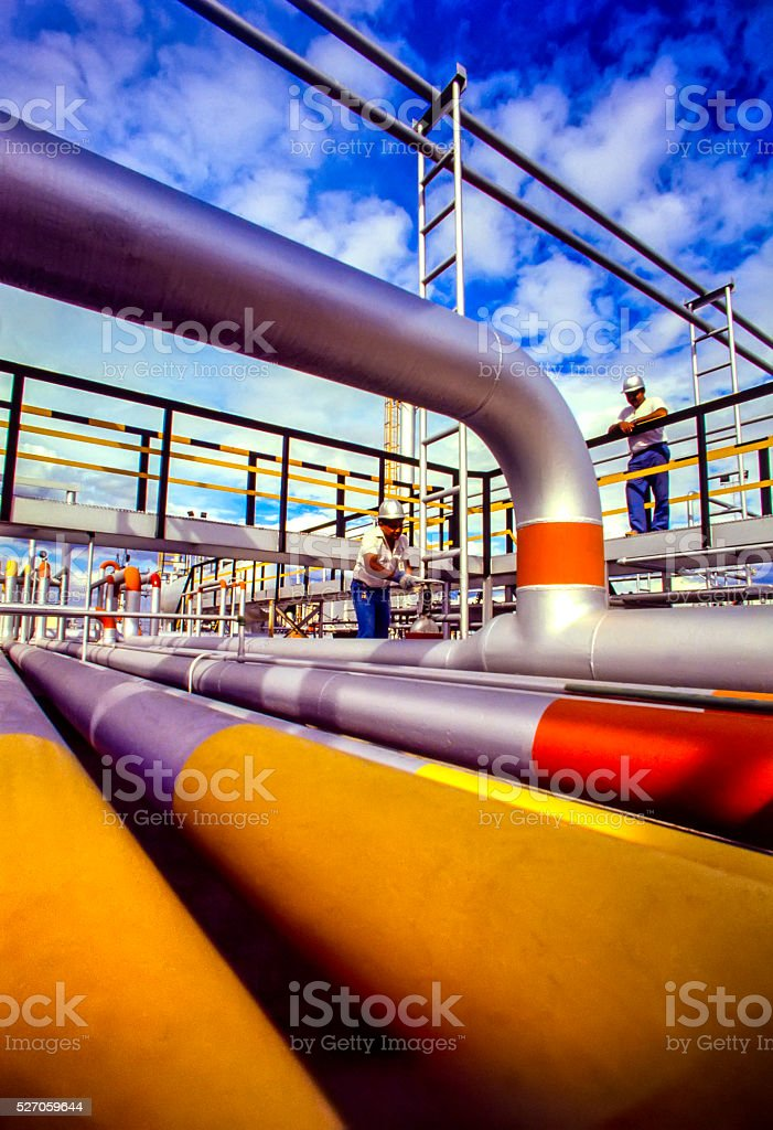 Oil, Gas and Fuel Refinery Industry stock photo