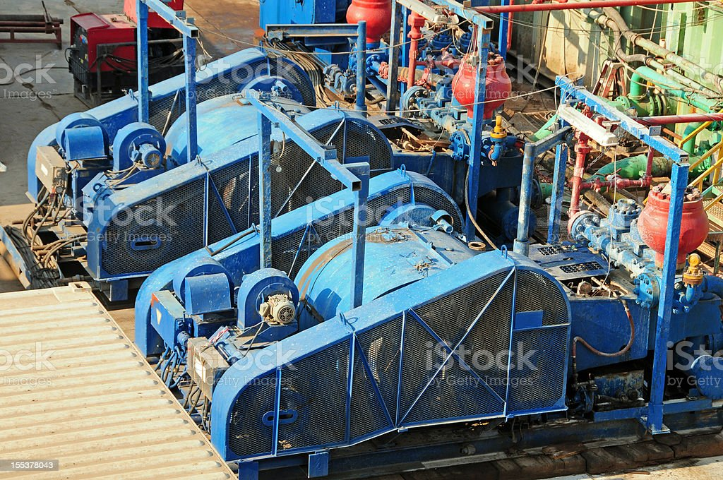 Oil & Gas Industry - Mud Pumps stock photo