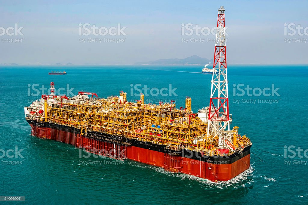 Oil & Gas offshore FPSO Oil Rig stock photo