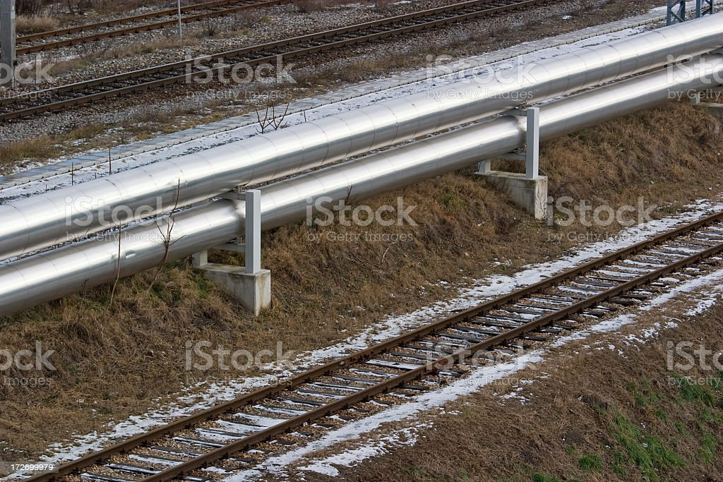 Oil gas pipeline stock photo