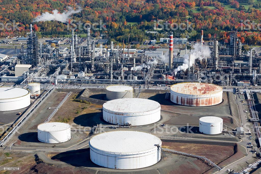 Oil & gas refinery stock photo