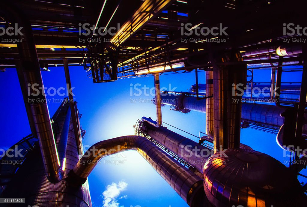 Oil & Gas Tower Power stock photo