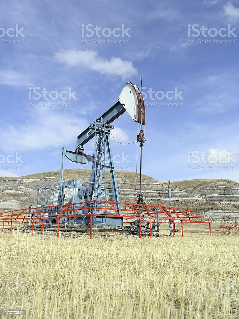 Oil in the Badlands royalty-free stock photo