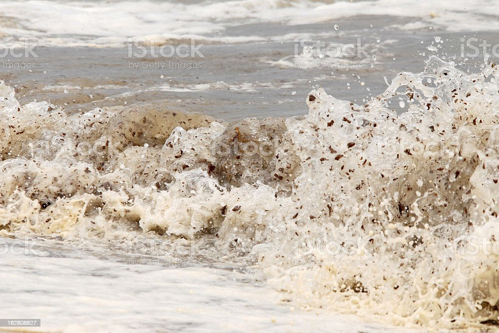 Oil in the Waves royalty-free stock photo