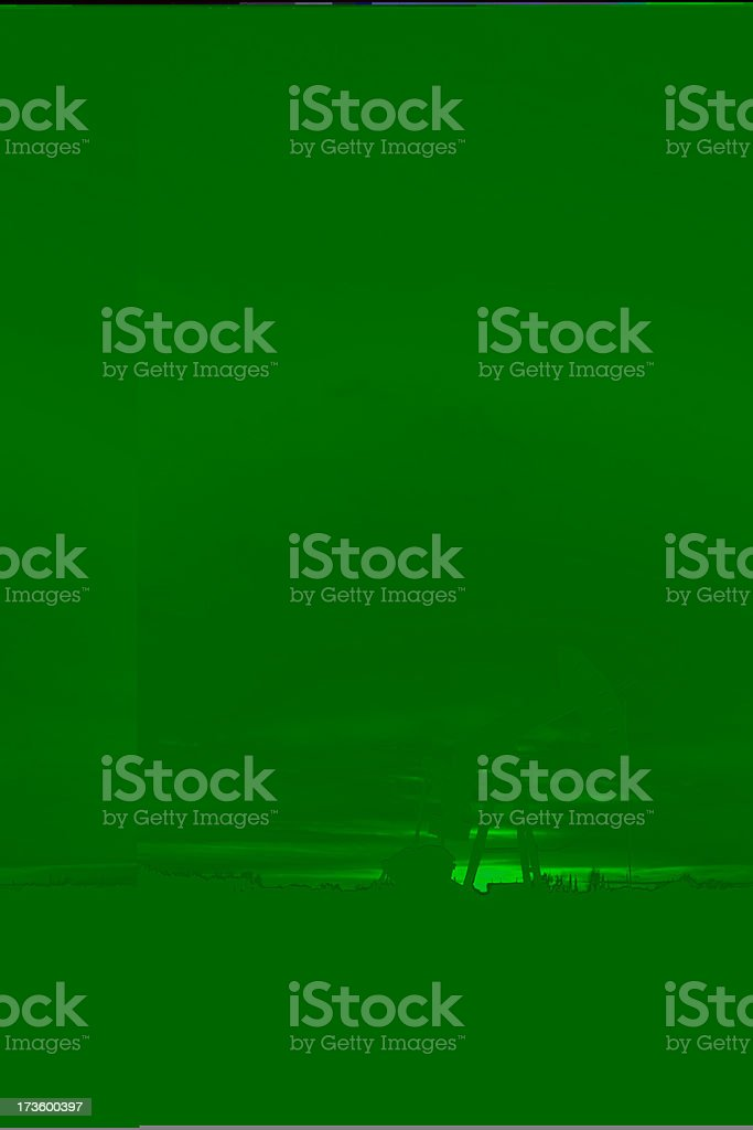 Oil Industry Derrick at Dusk royalty-free stock photo