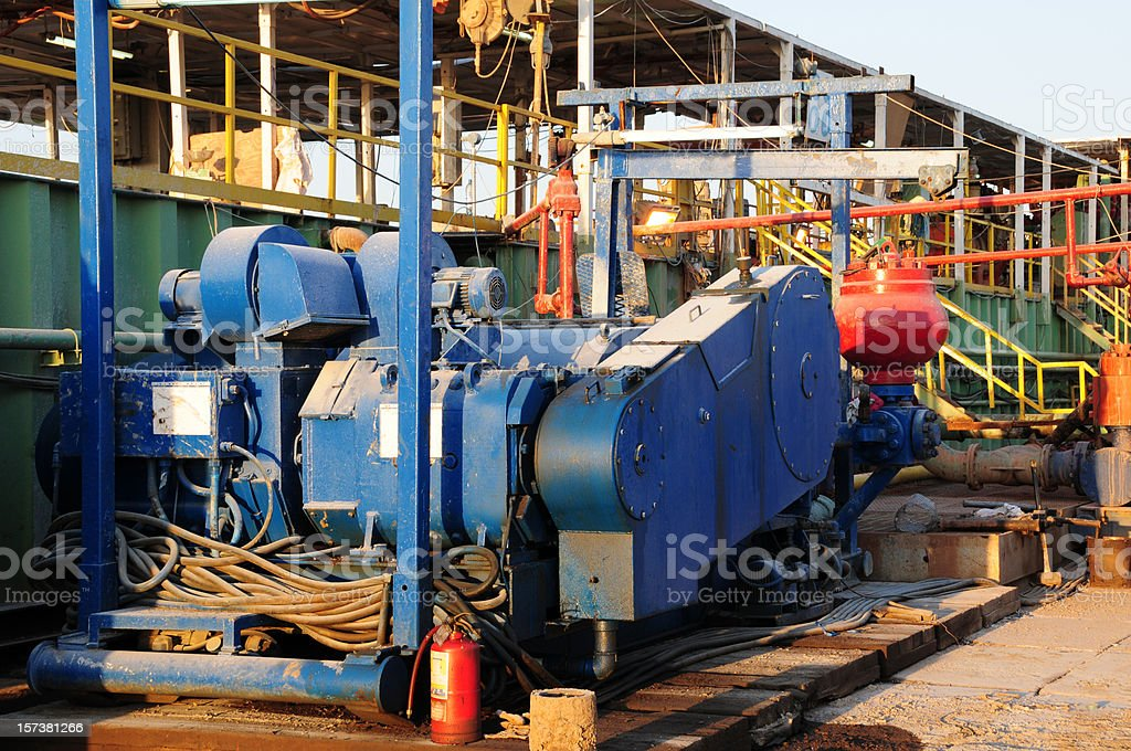 Oil industry equipment: Mud Pump stock photo