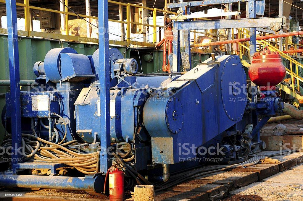 Oil Industry Equipment - Mud Pump stock photo