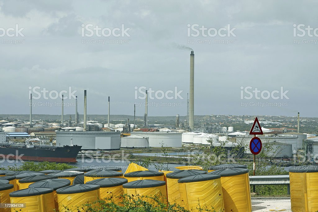 Oil industry harbour # 1 XL royalty-free stock photo